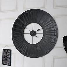 extra large black wooden wall clock windsor browne