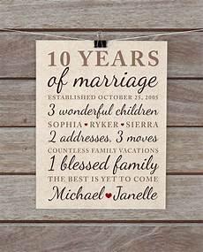 Ten Year Wedding Anniversary Gifts