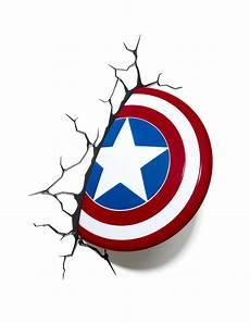 marvel 3d captain america shield wall light