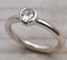 simple but elegant silver engagement rings with diamond