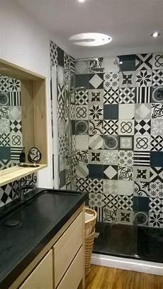 salle de bain avec carreaux de ciment carreaux de ciment salle de bain en 2019 salle de bain
