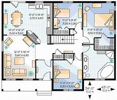three bedroom plan with options 21155dr architectural