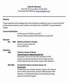 free 10 sle rn resume templates in ms word pdf