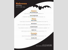 Spooky Halloween Menu   Design Templates by MustHaveMenus