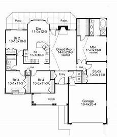 builder house plans com stylish four bedroom ranch plus study hwbdo76146