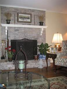 painted brick fireplace ideas gray white washed fireplace living room designs decorating