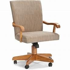classic chestnut upholstered tilt swivel arm chair