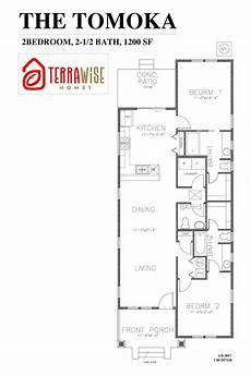 2br house plans the tomoka 1200sf 2br 2 5ba 1 story terrawise homes