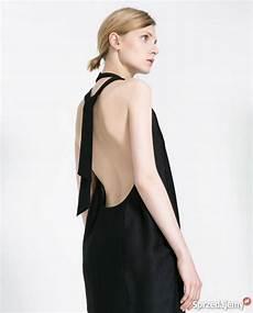 zara nowa sukienka mała czarna 40 l odkryte plecy kobieca luboń sprzedajemy pl