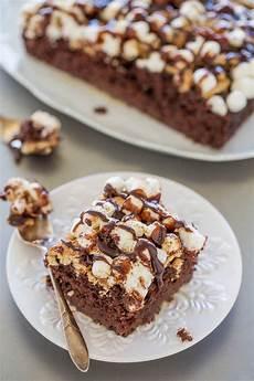 easy smores cake poke cake recipe averie cooks
