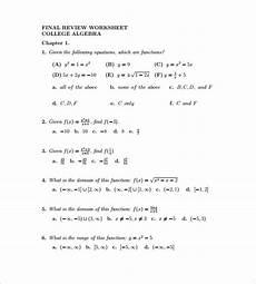 8 college algebra worksheet templates doc pdf free premium templates