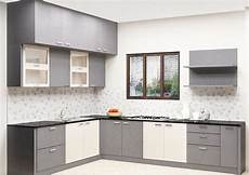 designer kitchen furniture buy erica l shaped kitchen with laminate finish