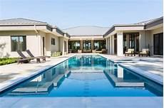 u shaped house plans with pool in middle 50 upscale backyard outdoor in ground swimming pools