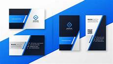 business card template blue professional blue business card template set