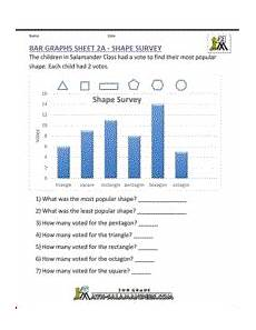 bar graph worksheets 2nd grade shape survey worksheets for grade 3 4th grade math