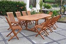 Table De Jardin Teck Huil 233 10 Places Ovale Lubok