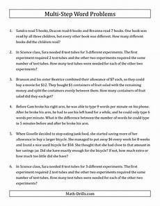word problems division worksheets 11004 the easy multi step word problems math worksheet from the word problems worksheet page at math