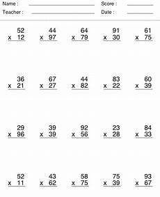 5th grade math worksheets 2 digit multiplication 4872 image result for multiplication by 2 digits middle school special education math time math