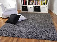 teppich anthrazit hochflor langflor shaggy teppich aloha anthrazit real