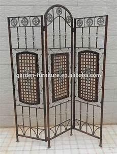 Garten Paravent Metall - wrought iron decorative metal folding screen room divider