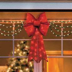 Clearance Decorations Outdoor by Clearance Outdoor Lighted Porch Eave Bow Swag