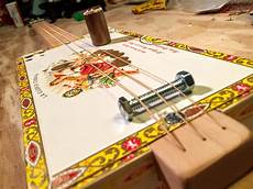 how to make cigar box guitars how to make a simple cigar box guitar metric included