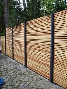 Sichtschutzzaun Holz L 228 Rche Metall Anthrazit Modern