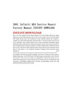 how to download repair manuals 2001 infiniti qx parental controls 2001 infiniti qx4 service repair factory manual instant download by li guo issuu
