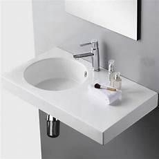 vasque de lavabo lavabo suspendu rectangulaire 82x46 cm c 233 ramique blanc