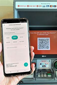 ocbc is first bank here to offer withdrawals using qr code