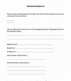 widerrufsformular muster widerrufsformular muster vorlage online word und pdf