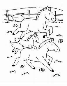 to color for simple drawing horses