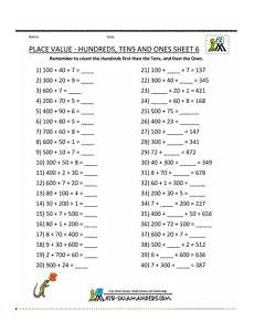decimal place value worksheets year 6 7685 printable math worksheets place value hundreds tens ones 6 place value worksheets math