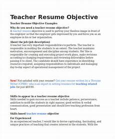 teacher resume sle 37 free word pdf documents download free premium templates
