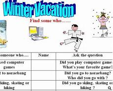 winter vacation esl worksheets 19994 winter vacation find someone who