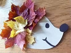 Basteln Mit Herbstblättern - igel basteln mit kindern tolle ideen f 252 r den herbst