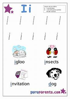 Letter I Worksheets Guruparents