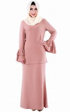 m n teana baju kurung modern dusty rose baju kurung