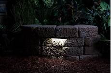 led hardscape light 6 quot landscape retaining wall light with mortar mounting plate led