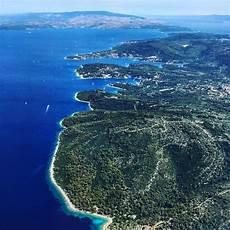 La Croatie Vue Du Ciel Escale De Nuit
