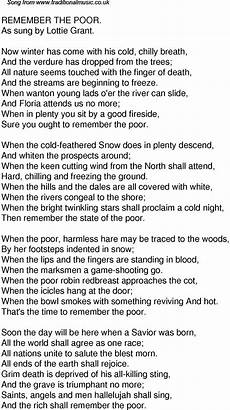 old time song lyrics for 35 remember the poor
