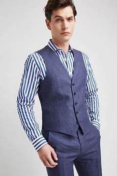 moss 1851 tailored fit indigo lightweight linen jacket