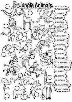 jungle animal worksheets 14319 jungle animals match esl worksheet by im lety