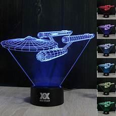 star trek uss enterprise 3d led night light 7 color touch switch table desk l ebay