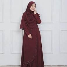Contoh Baju Gamis Warna Pastel Bajuku