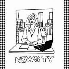newspaper coloring pages printable 17707 newscaster flash card