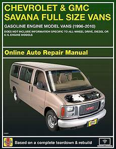 online car repair manuals free 2006 gmc savana 2500 lane departure warning 2001 gmc savana 3500 haynes online repair manual select access ebay