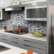 Kitchen Peel And Stick Backsplash Alaska Peel And Stick Mosaic Decorative Tile Backsplash