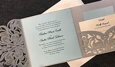laser cut pocket invitation diy wedding invitation