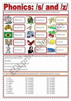 english worksheets phonics s z